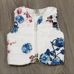Other - NEW Baby White Floral Warm Vest